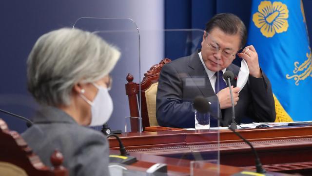文대통령, 떠나는 박영선·강경화·박양우와 '고별 만찬'
