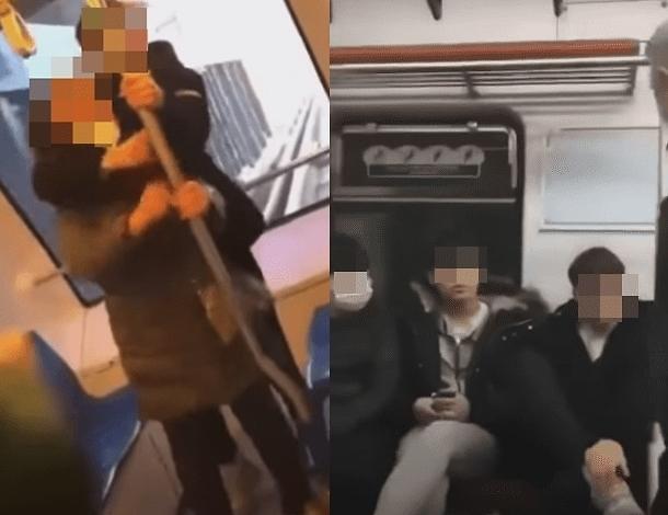 경전철 노인 폭행 사건 가해자는 중학생?...영상 SNS 통해 퍼져