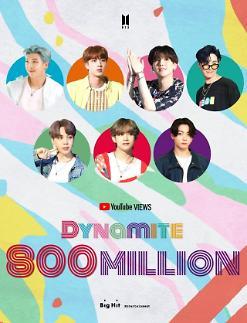 BTS Dynamite đạt 800 triệu lượt xem trên YouTube