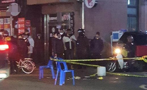 """首尔大林洞街头""""情杀""""致2人死亡 警方逮捕犯罪嫌疑人"""