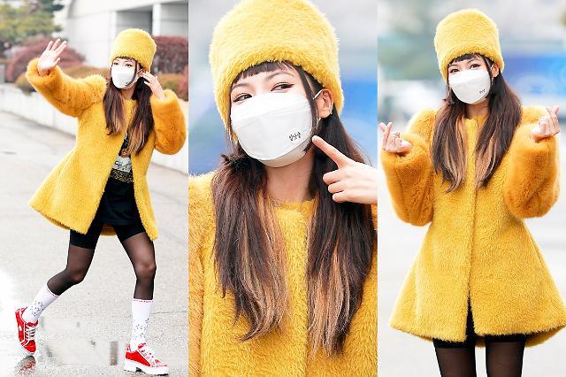 [슬라이드 화보] 현아, 귀여운 노란 병아리 패션