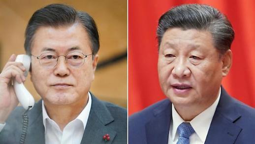 韩中元首通话商定紧密沟通习近平访韩事宜