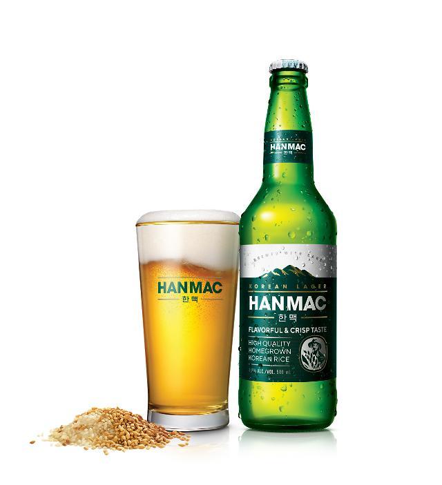 오비맥주, 100% 국산쌀 맥주 한맥 출시···이병헌 앞세워 테라 공유 잡는다