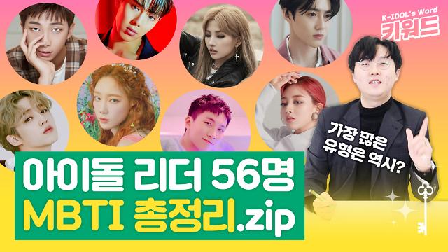 [아이돌 키워드] 아이돌 그룹 리더 56명 MBTI 총정리…가장 많은 유형은?