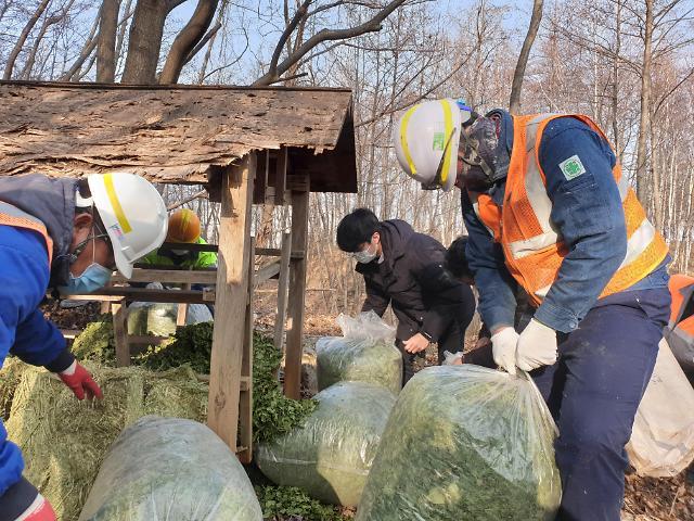 한라시멘트, 야생동물의 서식지 확보 행사... '실질적 환경 복구 주력'