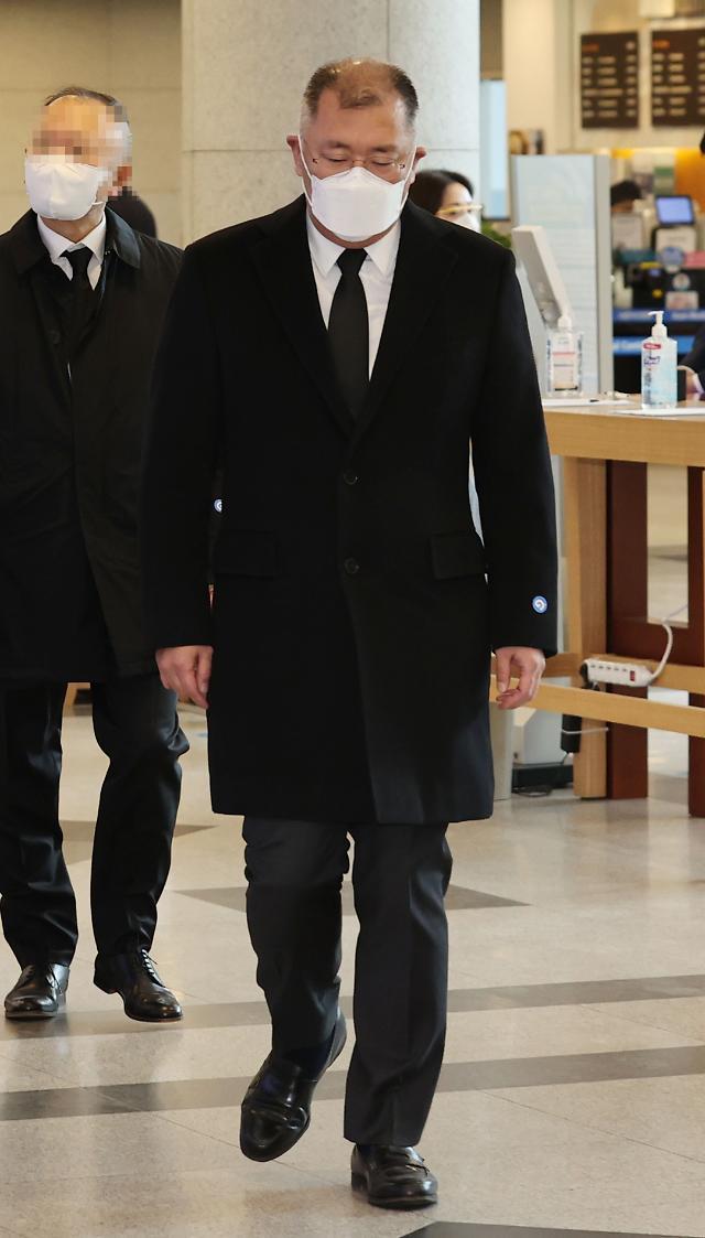 정상영 KCC 명예회장 추모 이어져···정몽준·정의선 현대가 조문객 발걸음