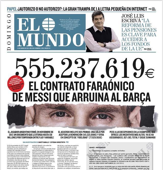 """""""팀을 망쳤다"""" 스페인 현지 매체가 폭로한 메시의 계약서 내용은?"""