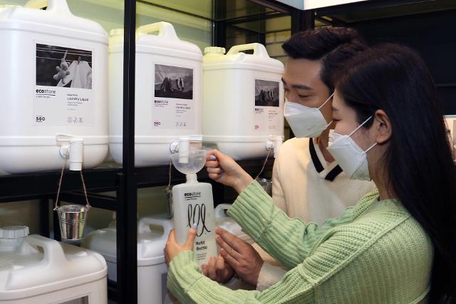 减塑环保 韩流通企业推无包装补给卖场