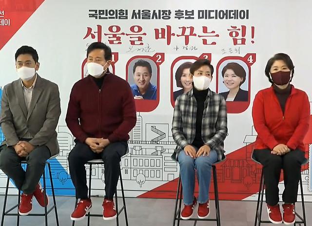 """오세훈 """"황‧나 총선 참패"""" 나경원 """"견제 많아""""…野 본경선 신경전"""