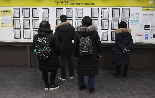 韩1月就业人口同比减近百万人 失业人口创历史新高