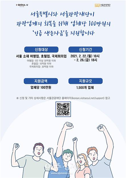 코로나 위기 겪는 1500개 여행업계에 15억 심폐소생 나서는 서울관광재단