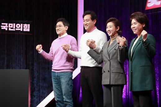 """首尔市长竞选气氛升温 朝野候选人""""不拘一格""""抢镜"""