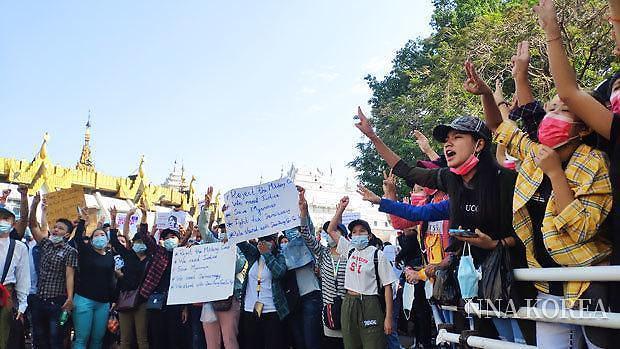 [NNA] 미얀마 군부, 형법과 형소법 개정... 시위단속 강화