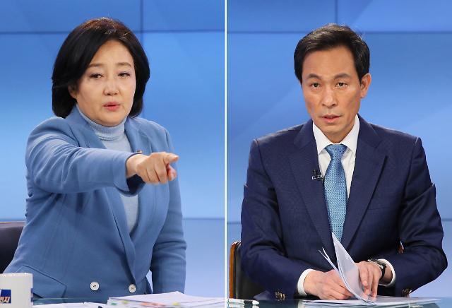 [與 서울시장 후보 토론] 박영선·우상호 부동산·코로나 방역 정책 놓고 날선 공방