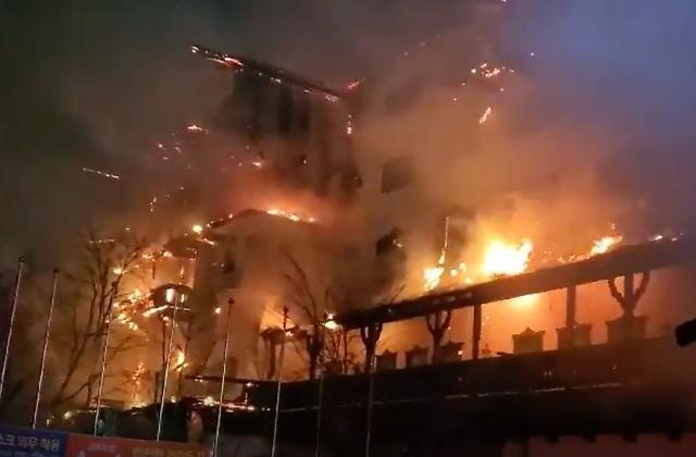 마이클 잭슨과의 인연 잿더미…무주 덕유산리조트 티롤 호텔 화재