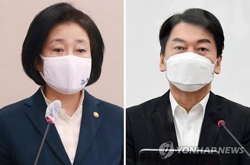"""與, 서울 뺏기나...""""서울시장, 안철수 41.9% 박영선 39.9%"""""""