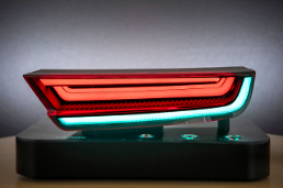 .Hyundai Mobis unveils innovative LED rear lamps for various patterns of design.