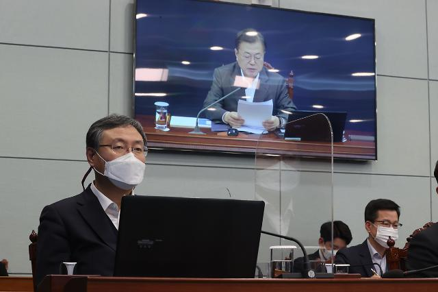 """文 """"4차 재난지원금, 3월 중 집행…추경 편성 속도 내달라"""""""