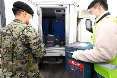 [포토] '백신 접종 D-1' 경호 속 전국에 아스트라제네카 백신 배송 시작