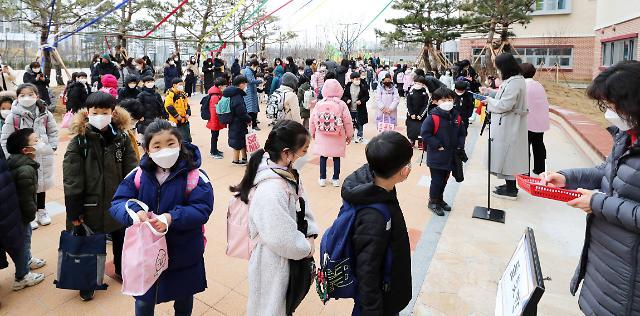 [포토] 2021학년도 초·중·고교 신학기 첫 등교