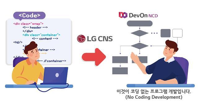 "LG CNS, 노코딩 개발툴 '데브온 NCD' 무료공개…""프로그래밍 저변확대"""