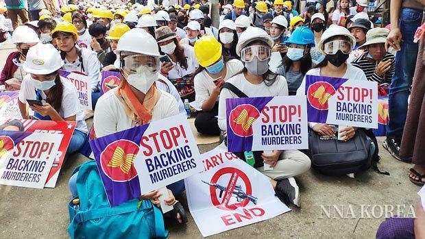 [NNA] 미얀마 쿠데타 이후 수입 급감... 정세 불안으로