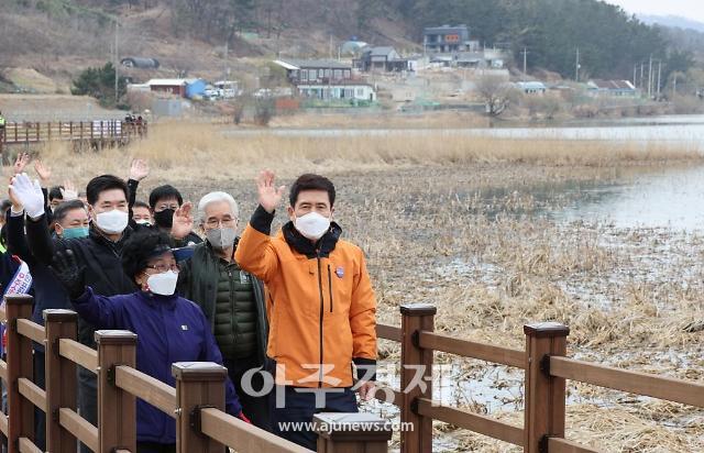 포항시, '갈대와 철새들의 조박지 둘레길' 준공···힐링 공간 역할 기대
