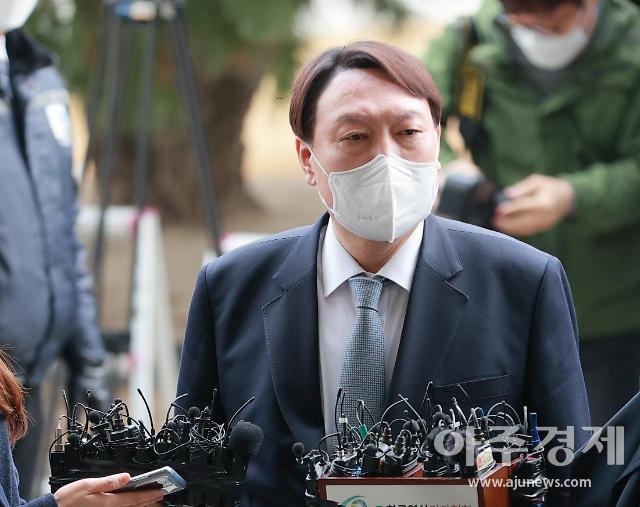 """""""정의 위해 사퇴…국민만 생각하라"""" 윤석열, 檢에 마지막 인사"""