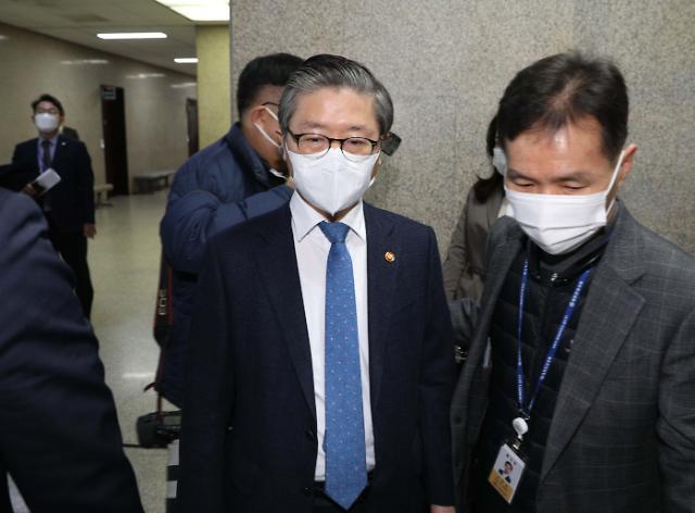 [포토] LH투기 의혹...국회 찾은 국토교통부 장관