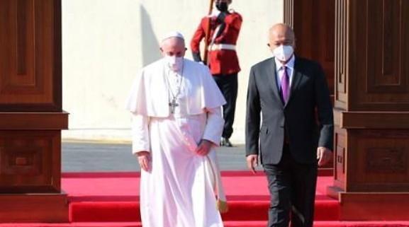 """사상 첫 이라크 방문 프란치스코 교황 """"폭력과 극단주의 중단해야"""""""
