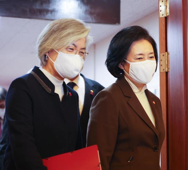 [4‧7 재보선] 강경화, 박영선 캠프 합류…文 정부 장관 출신 4명으로 늘어