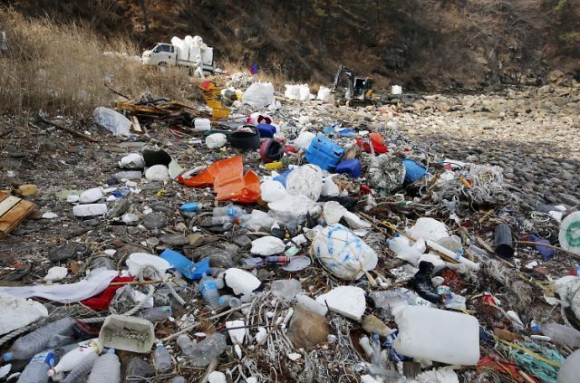 지난해 해양쓰레기 2018년 대비 45%↑