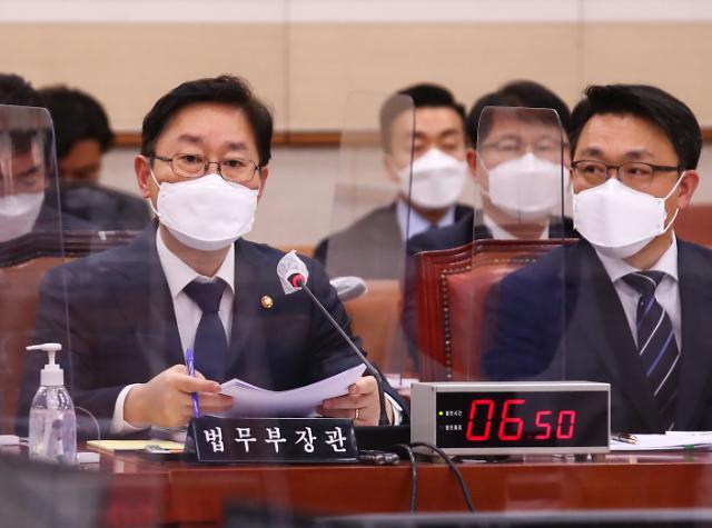 """박범계 """"윤석열 사퇴, 중수청 추진 변수 아니다"""""""