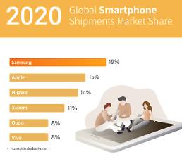 サムスン電子、昨年のスマートフォン市場でシェア1位