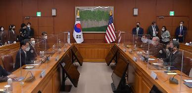 한·미, 제11차 방위비협정 합의문 가서명…양국 외교·국방장관 참석