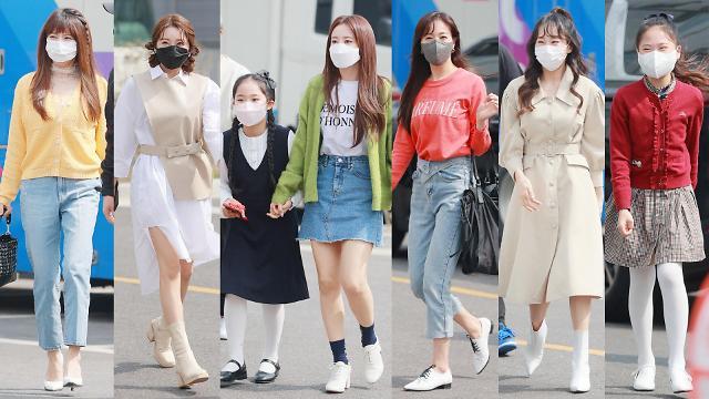 [화보] 미스트롯2 TOP7, 아는 형님 출근길 패션은?