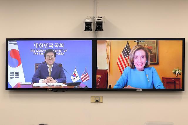 """박병석, 펠로시 美 하원의장에 """"한미동맹, 한국 외교‧안보의 기준점"""""""