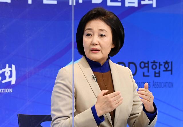"""[4·7 재보선] 박영선 """"박원순 피해자, 필요하면 선거 전에 만나겠다"""""""