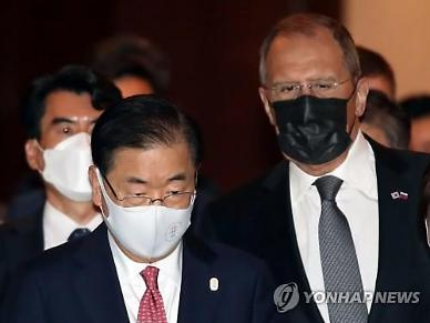한·러 외교장관 회담 시작...라브로프 한국, 러시아에 잠재력 커