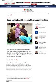 [폴란드 Gazeta Wyborcza] 한국 정착생활에 대한 탈북민 인터뷰