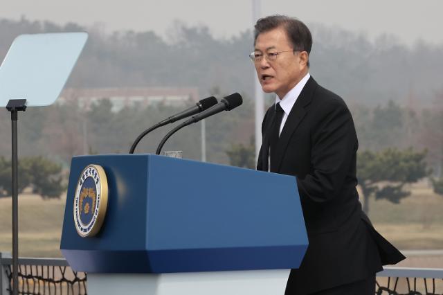 文在寅对朝射弹表忧虑 呼吁重启韩朝美对话