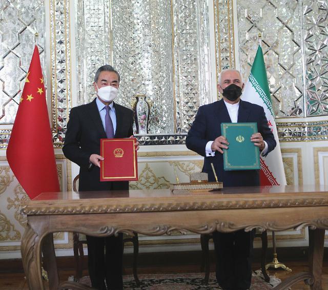 """中-이란, '반미동맹' 강화 위해 25년 협력 확대했지만.. 상징적 수준 불과"""""""