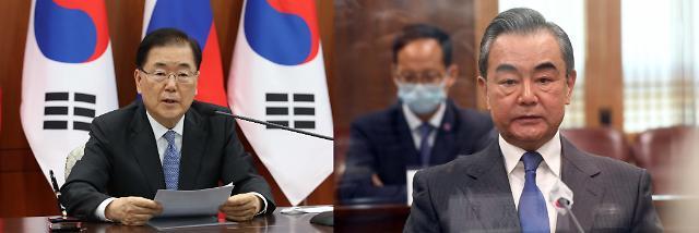 韩中外长将于本周六在厦门举行会谈