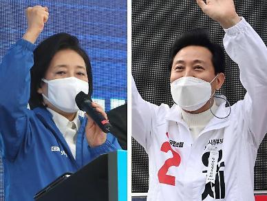 [4·7 재보선] 오세훈 50.5% vs 박영선 28.2%...열흘 전보다 격차 더 벌어졌다