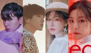 [AJU포커스] 내공 만렙 백현·강승윤·웬디·휘인, 솔로앨범으로 치열한 경쟁 예고