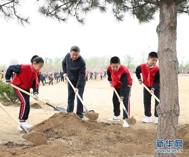 청명절 맞이 나무심는 中시진핑 국가주석