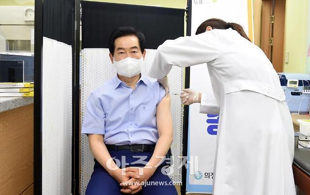 """경기 의정부시 """"의료원 의료진 화이자 백신 1차 접종 완료""""···이상 반응 없어"""