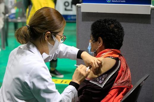 韩国新冠疫苗接种人数超百万 总理呼吁防疫心理勿放松