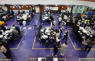 [4·7 재보선] 전체 투표율 55.5%...서울 58.2%·부산 52.7%