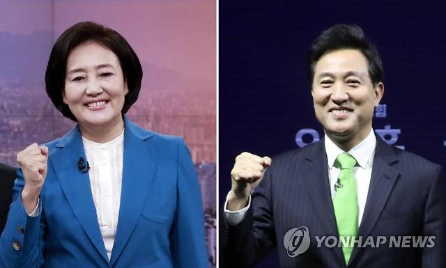 [속보] 개표율 14.95%···오세훈 56.57%, 박영선 40.47% 득표
